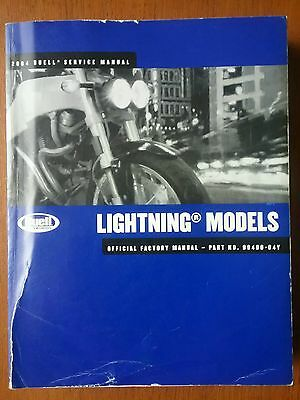Buell Lightning XB9S official Factory Workshop Manual  2004