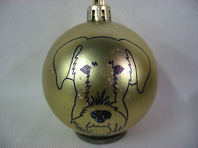 New Handpainted Airedale Terrier Face Christmas Ornament