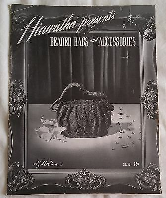 Vintage 1940s Hiawatha BEADED BAGS JEWELRY ACCESSORIES Pattern Book 30 K Melina
