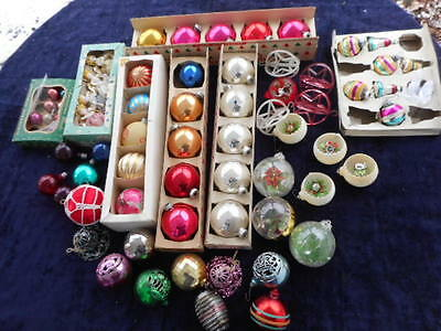 Vintage Christmas Ornaments Assorted Over 50 pcs~
