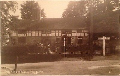 Sussex, Mayfield Round Cottages, RP Postcard,
