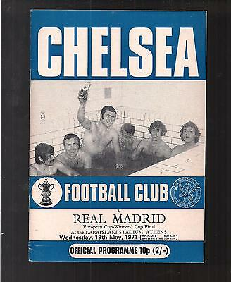 Chelsea V Real Madrid Cup Winners Cup Final 1971 Excellent