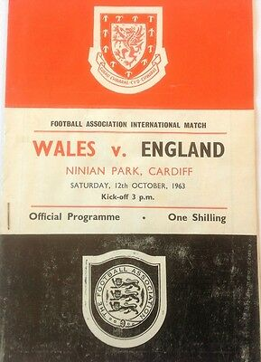 WALES V ENGLAND played at Cardiff 12th October 1963