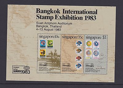 Stamps Singapore 1983 MNH minisheet Stamps Exhibition