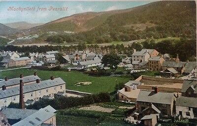 MACHYNLLETH, From Penrallt. Real Photo Postcard.