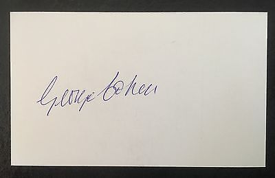 George Cohen Autograph Signed 5X3 England 1966 World Cup Card Fulham