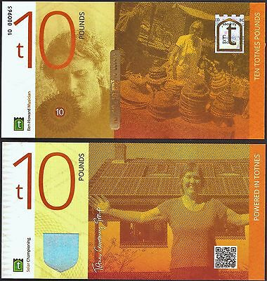 England / Totnes  £10 Banknote. Local Currency with impressive security features