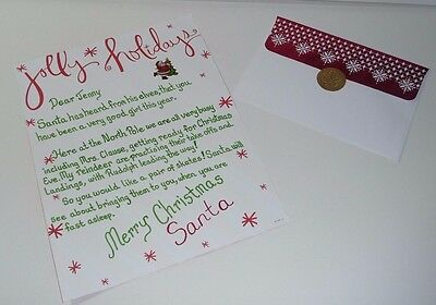 Personalized Letter From Santa Hand Written On Choice Of Quality Stationery