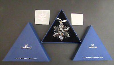 Swarovski Annual Christmas Star for 2014, complete with Boxes and Certificate.
