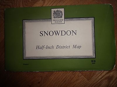 """OS  Map  --Snowdon - Second Series layers - sheet 28 1/2 """" inch District map"""