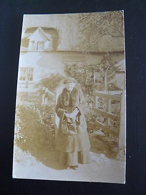 Newnham Post Office Real Photo RP Postcard Kent Hertfordshire Gloucestershire