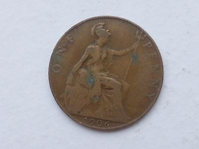 1906 Edward Vii Old Penny Coin