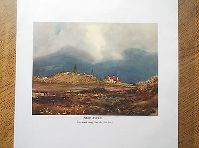 Golf Course NEWCASTLE CO. DOWN Facsimile Print Of Original 1910 Painting