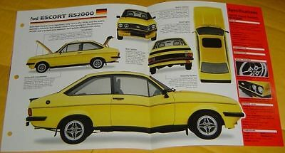 1979 Ford Escort RS2000 4 Cylinder 1993cc 110hp Weber Carb info/specs/photo 15x9