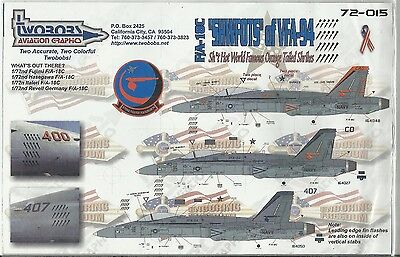 TwoBobs Decals 72-015 F/A-18C Hornet decals in 1:72 Scale