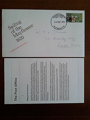 GB commemorative cover sailing of the Mayflower 1970