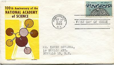 1963 National Academy Of Science 100Th Anniversary Cachet Craft Addressed Fdc