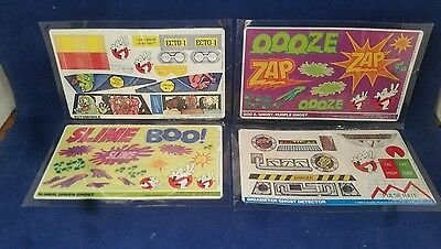 RARE Vintage Ghost Busters Stickers from lot form Hardees 1984 MIP