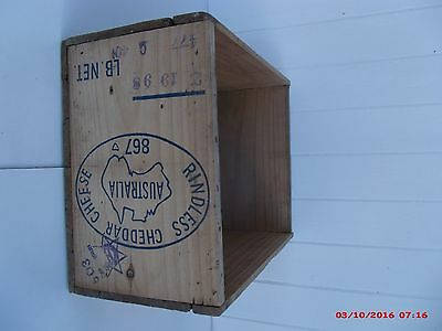WOODEN 1950's CHEESE BOX FOR TRANSPORTING BLOCKS OF CHEESE TO BE CUT AND WEIGHED