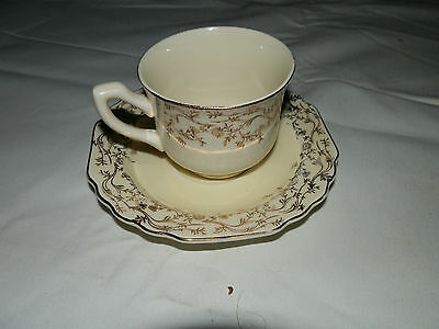 Vintage, W.S. George, Lido, Canarytone, 013A, Demitasse, Cup & Saucer