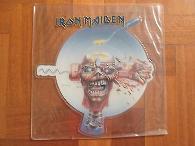 """IRON MAIDEN - Can I Play With Madness - UK 7"""" Shaped Picture Disc  1988  EMI"""