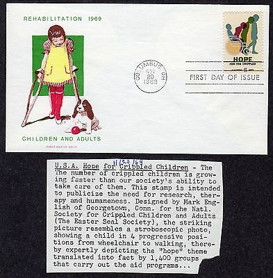 1969 Easter Seals Bring Hope To The Crippled - Jackson Overseas Mailers FDC P215