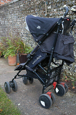 maclaren twin techno black double seat stroller picclick uk. Black Bedroom Furniture Sets. Home Design Ideas