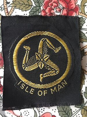 Isle of Man BOY SCOUT CLOTH BADGE PATCH SCOUTING new UK