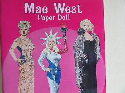 Mae West Stunning Dress-Up Paper Doll New Book by Tom Tierney