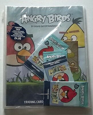 Rovio Angry Birds Trading Card  Starter Pack And 25 Packets Of Cards
