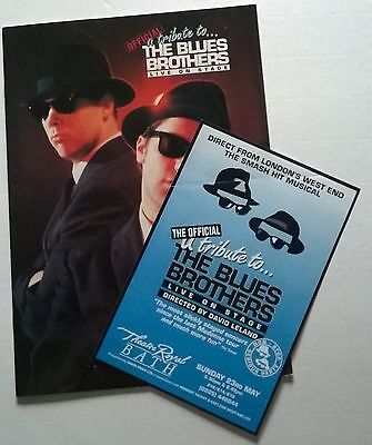 Theatre Programme With Ticket And Flyer  , Tribute To The Blues Brothers,