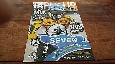 Ipswich Witches V Scunthorpe Scorpions--Speedway Programme--11Th August 2016