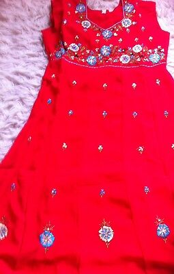 Red Anarkali Suit - Children's Size 36 - Bnwot