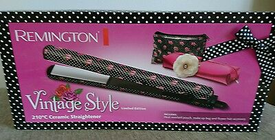 BN Remington Ceramic hair straighteners Vintage style Limited Edition