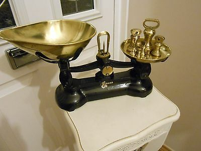 Vintage/Traditional Librasco/Libra Kitchen scales & Imperial Brass Bell weights