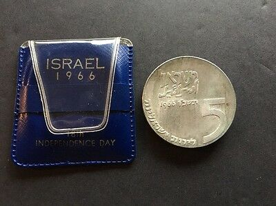1966 Silver Coin of Israel 18th Independence Day Original Case Unc Uncirculated