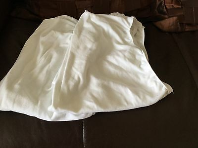 2 baby crib sheets approx size 56 cm white John Lewis brand 100 per cent cotton