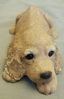Vintage Sandicast, Cocker Spaniel Puppy Signed and Dated