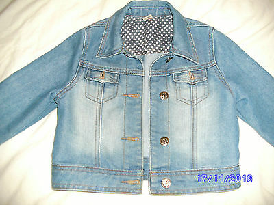 Girls Demin Jacket - Very Cool & Trendy - Size 5 - 6 Years