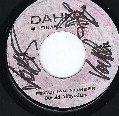 """"""" PECULIAR NUMBER. """" donald abbyssians. DAHNA 7in 1982."""