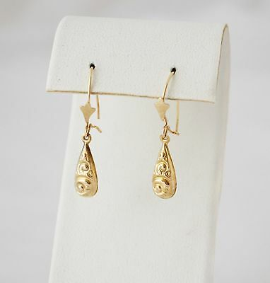 Antique Victorian Gold Earrings Beautiful Drops