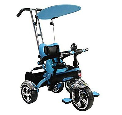 OPEN BOX Easy Steer Stroller Trike Buggy With Pedal and Canopy (Model:GR01) BLUE
