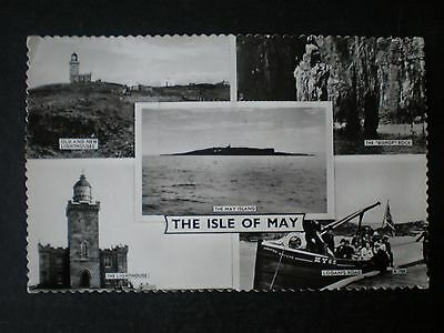 Isle of May Fife Scotland multiview RP postcard
