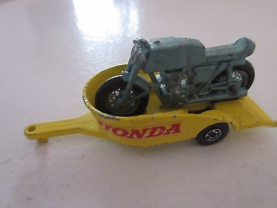 lesney England #38 honda trailer with motorcycle