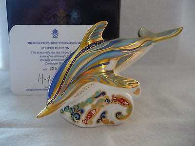 Royal Crown Derby Limited Edition Striped Dolphin in perfect condition, BNIB