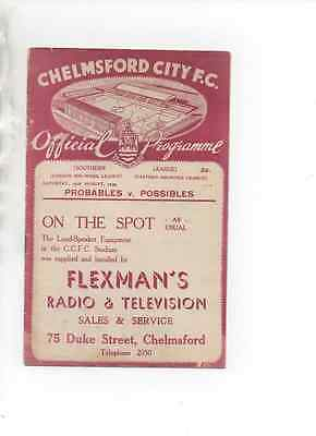 Chelmsford City Probables v Possibles 19/8/39