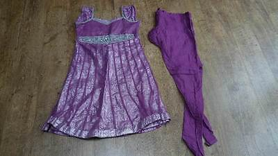 lilac girls 6-8 anarkali punjabi Indian salwar kameez PYJAMI bollywood PY11546