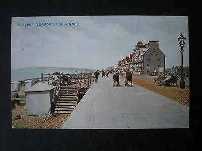 Seaford Esplanade Sussex postcard