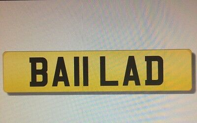 BALL LAD private personal cherished number plate