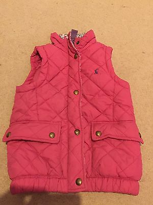 Joules Girls Pink Gillet Body Warmer Age 4yrs